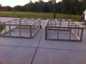 Chicken tractor frames